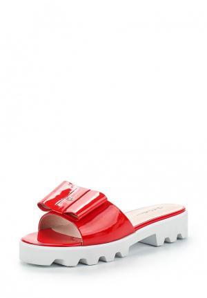 Шлепанцы Just Couture. Цвет: красный