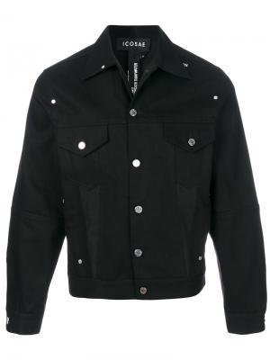 Джинсовая куртка с заклепками Icosae. Цвет: чёрный