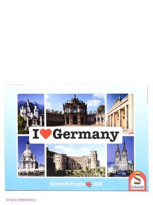 Паззл  Я люблю Германию Schmidt. Цвет: голубой