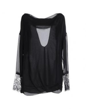 Блузка EUREKA. Цвет: черный