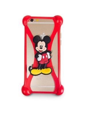 Бампер силиконовый универсальный дисней/лукас микки 1 Disney. Цвет: красный