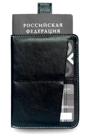 Обложка для паспорта ZAVTRA. Цвет: черный