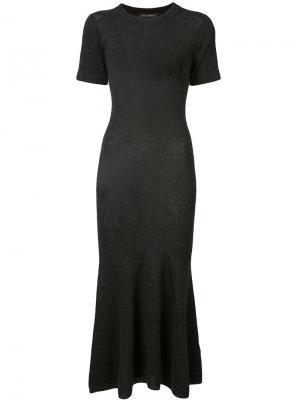 Трикотажное платье с расклешенным подолом Sally Lapointe. Цвет: серый