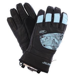 Перчатки сноубордические женские  Ws Feva Glove Gtx Blue Pow. Цвет: черный,голубой