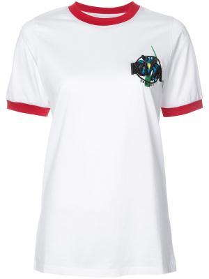 Футболка с вышитым логотипом Marquesalmeida Marques'almeida. Цвет: белый