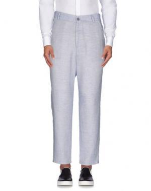Повседневные брюки 26.7 TWENTYSIXSEVEN. Цвет: небесно-голубой