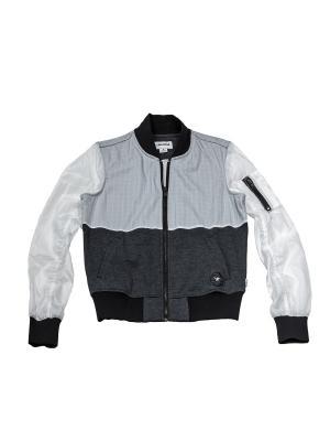 Куртка Knit Woven MA 1 Converse. Цвет: черный