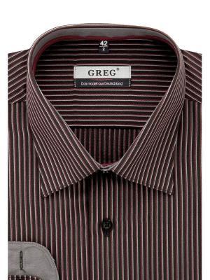Рубашка GREG. Цвет: бордовый, черный