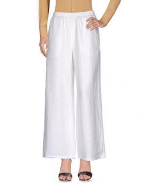 Повседневные брюки GANESH. Цвет: белый