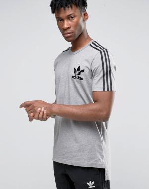 Adidas Originals Футболка Adicolour B10710. Цвет: серый