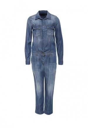 Комбинезон джинсовый Atos Lombardini. Цвет: синий