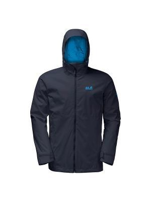 Куртка ARROYO MEN Jack Wolfskin. Цвет: темно-синий