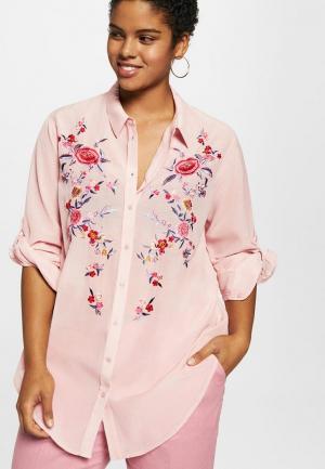 Рубашка Violeta by Mango. Цвет: розовый