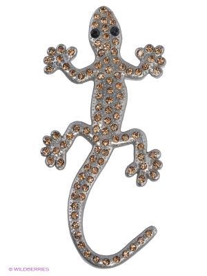 Наклейка металлическая 3D Ящерица бриллиант лунный N21 WIIIX. Цвет: золотистый