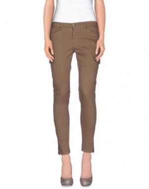 Повседневные брюки 40WEFT. Цвет: голубиный серый