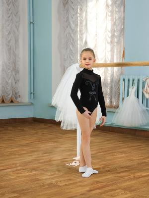 Купальник гимнастический Arina Ballerina. Цвет: черный