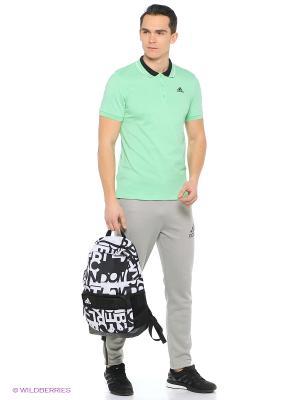Футболка-поло ESS Polo Adidas. Цвет: зеленый