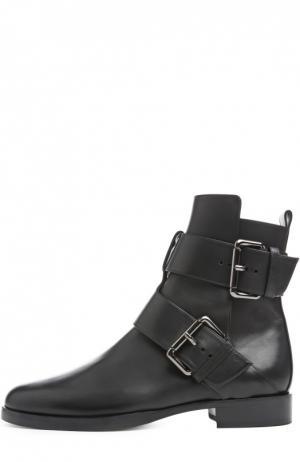 Кожаные ботинки с ремешками Pierre Hardy. Цвет: черный