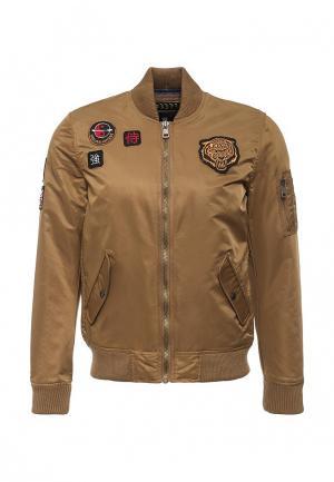 Куртка утепленная Tony Backer. Цвет: коричневый