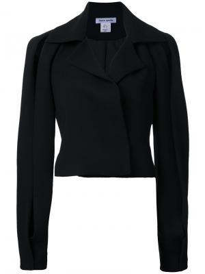 Креповый пиджак Belleville Bianca Spender. Цвет: чёрный