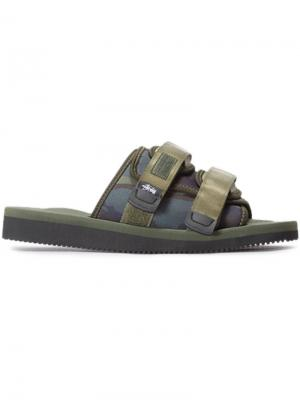 X stussy moto sandals Suicoke. Цвет: зелёный