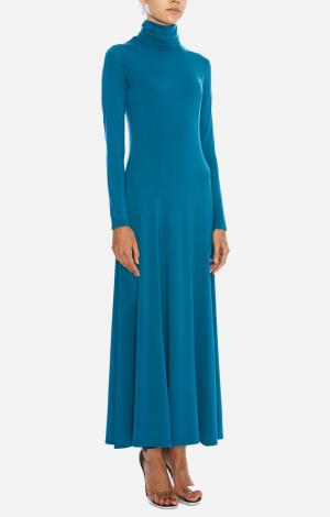 Платье-водолазка Голубое YETONADO
