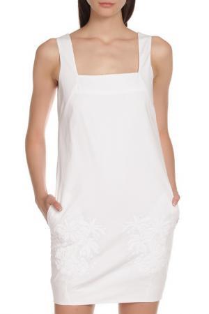 Платье на бретелях с карманами Whos Who Who's. Цвет: белый