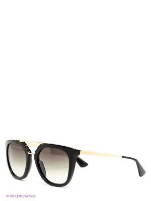 Очки солнцезащитные PRADA. Цвет: черный, золотистый