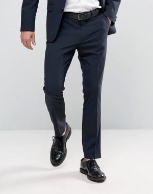 New Look Темно-синие брюки слим. Цвет: синий