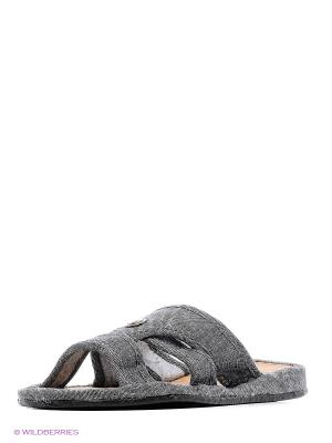 Тапочки LAMALIBOO. Цвет: серый