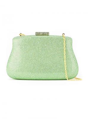 Embellished clutch bag Serpui. Цвет: зелёный
