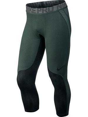 Тайтсы M NP HPRCL TGHT 3QT PRINT Nike. Цвет: зеленый, черный