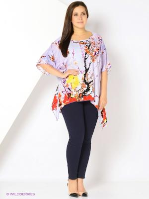 Блузка SVESTA. Цвет: лиловый