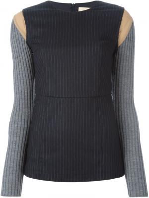 Блузка Liz Erika Cavallini. Цвет: синий