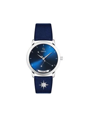 Часы ювелирные лимитированная коллекция Galaxy Cancer-Рак QWILL. Цвет: синий