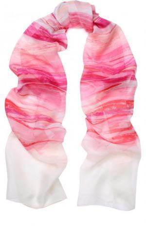 Шелковый шарф с принтом St. John. Цвет: разноцветный