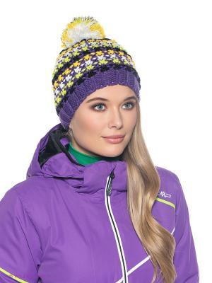 Шапка CMP. Цвет: фиолетовый, желтый, белый, салатовый