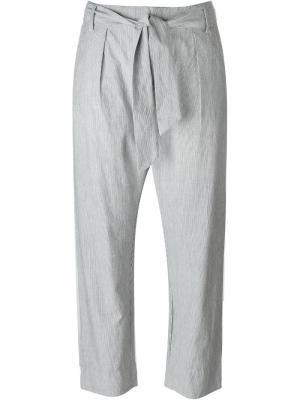 Constant striped tie waist straight leg trousers Valentine Gauthier. Цвет: синий