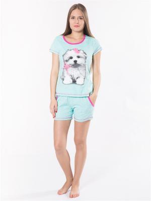 Пижамы Flip. Цвет: светло-голубой, светло-зеленый