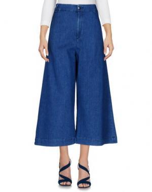 Джинсовые брюки-капри THE SEAFARER. Цвет: синий