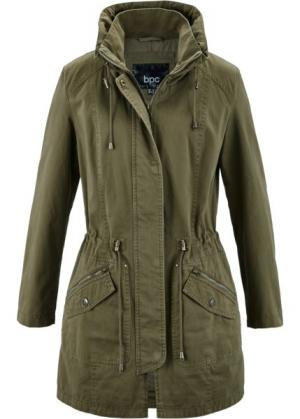 Куртка-парка (зеленый хаки) bonprix. Цвет: зеленый хаки