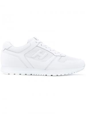 Logo lace-up sneakers Hogan. Цвет: белый