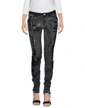 Джинсовые брюки LEROCK. Цвет: серый