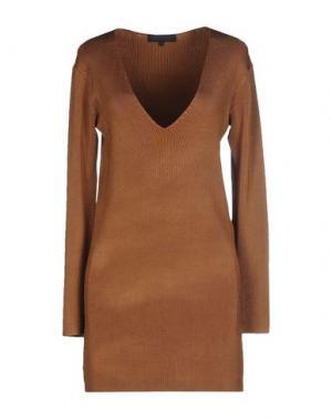 Короткое платье AMERICAN RETRO. Цвет: верблюжий