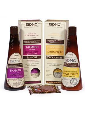 Шампунь Для жирных волос, Кондиционер-Филлер (2х350 мл) и Биокомплекс в подарок (15 DNC. Цвет: белый, прозрачный, светло-желтый