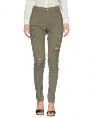 Повседневные брюки KORALLINE. Цвет: зеленый-милитари