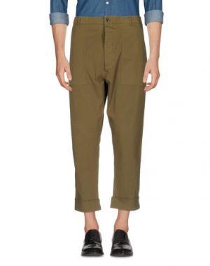 Повседневные брюки WOOSTER + LARDINI. Цвет: зеленый-милитари