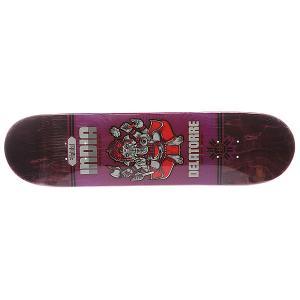 Дека для скейтборда  S5 Delatorre Java 32 x 8.0 (20.3 см) Habitat. Цвет: синий,фиолетовый,серый,красный
