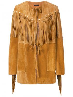 Куртка с бахромой в стиле вестерн Wandering. Цвет: коричневый