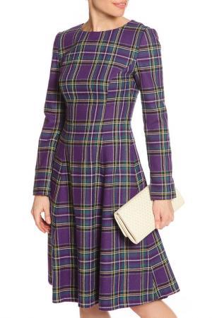 Платье миди NATALIA PICARIELLO. Цвет: фиолетовый